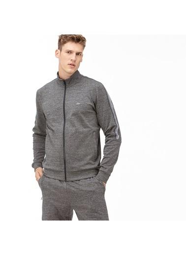 Lacoste Erkek Desenli Sweatshirt SH2027.27G Gri
